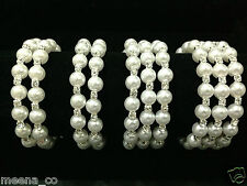 Diamante And Pearl Bracelet Wedding 2 And 3 Row Stunning Design