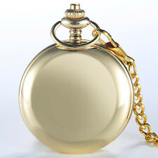 New Golden Womens Mens Bronze Retro Quartz Pocket Watches Pendent Fob Chain Gift