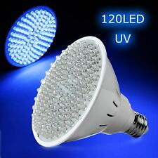 new E27 8W Ultra Bright UV Ultraviolet Color Purple Light 120LED Lamp Bulb