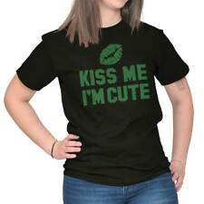 Kiss Me Im Cute Funny Quote Fun Gift Ideas St Patricks Day T-Shirt Tee