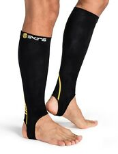 Skins Essentials Compression Unisex Calf Tights With Stirrup (Black/Yellow)