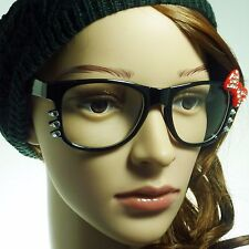 HELLO Kitty Style Rhinestone Crystal Party Women Frame Clear Lens Eye Glasses