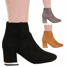 LADIES WOMENS FAUX SUEDE CASUAL ANKLE BOOTS EVERYDAY FASHION STYLE SHOES SIZE