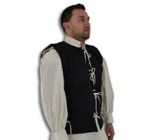 15th Century Medieval Waistcoat Vest Wool/Cotton Renaissance LARP SCA Pirate