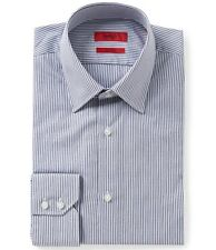 HUGO BOSS C-MENZO US RED LABEL DRESS SHIRT REGULAR FIT NAVY STRIPED - NWT