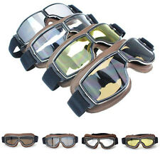 US Coffee Frame Retro Vintage Aviator Pilot Cruiser Motorcycle Scooter Goggles