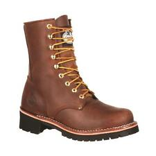NEW GEORGIA Men's Brown Logger Work Boot  GB00048 NIB