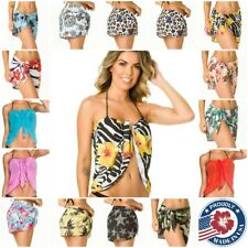 COQUETA Beach cover up  Bikini Swimwear Coverup Sarong Wrap Pareo Skirt swimsuit