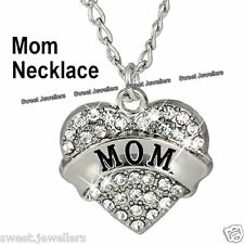 Xmas Gift For Her Matching Silver Heart Mum Necklace Forever Mother Sister Women