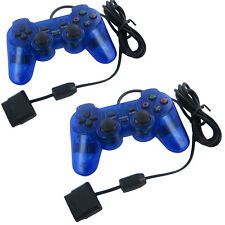 GIFT XMAS Blue Twin Shock Game Controller Joypad Pad for Sony PS2 Playstation GM
