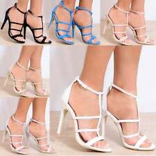 STRAPPY SANDALS PEEP TOES ANKLE STRAP GLITTER SUEDE PATENT HIGH HEELS STILETTOS