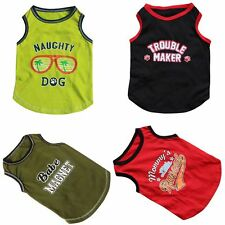 Unisex Small Pet Dog Sleeveless Vest T-Shirt Tops Apparel Puppy Cat Coat Clothes