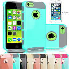 For Apple iPhone 5C Heavy Duty Hybrid Rugged Hard Case Cover Screen Protector