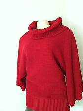 NWT $69 Chaps by Ralph Lauren Cowlneck Red Sweater Woman Sz.L New