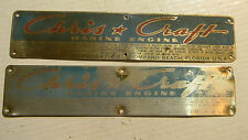 VINTAGE CHRIS CRAFT MARINE ENGINE PLATE