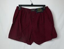 POLO RALPH LAUREN MENS COTTON CLASSIC PLAID WOVEN BOXERS RED  # L107TR-NWT