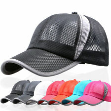 New Plain Baseball Cap Trucker Mesh Curved Visor Hat Adjustable Men Women Summer