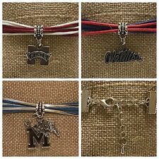 College Football Team Bracelet NCAA Ole Miss Rebels MS State Bulldogs and Tigers