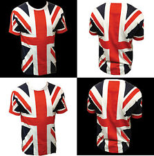 Union Jack T Shirt - Great Britain - Full length UK Flag Print - Unisex tops