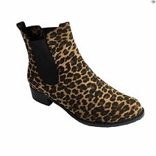 Lunar Doll Womens Leopard Print Casual / Evening Ankle Boots Size 3 4 5 6 7 8