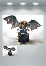 The Witcher Devil Giant Wall Art Poster Print Split Sections or Giant 1 Piece