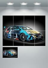 Honda Civic wt Giant Wall Art Poster Print Split Sections or Giant 1 Piece A0 A1