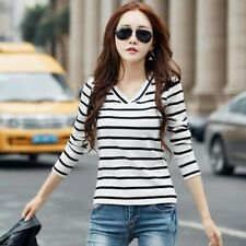 Women Long Sleeve Spring Autumn Korean Style T-shirt Cotton-black