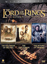 The Lord of the Rings Trilogy (DVD, 2004, 6-Disc Set) NEW Widescreen