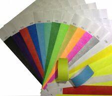 500 Tyvek Security and Event Wristbands - CHOICE OF COLOURS