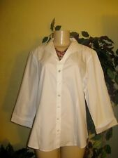 Coldwater creek Women's Fall Spring Winter no iron white shirt top Blouse 1X 2X