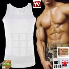 MENS SLIMMING COMPRESSION TOP VEST FOR CHEST MAN BOOBS MOOBS GYNECOMASTIA UK NEW