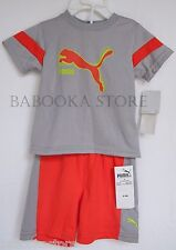 PUMA Toddler's & Little Boy's Two-Piece Tee & Shorts Set