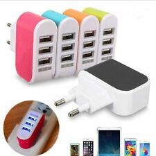 Travel Wall Home AC LED Power Charger Adapter 3-Port USB Light