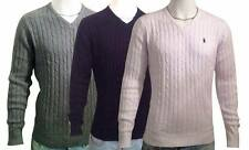 Ralph Lauren polo BNWT Cable Knit  V neck Jumpers for Men
