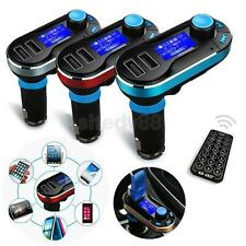 Handsfree Bluetooth Car Kit Wireless FM MP3 Radio Player Dual USB Charger LCD SD