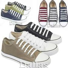 Mens Lace Up Casual Canvas Retro Casual Summer Plimsolls Trainers Pumps Shoe Siz
