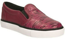 Clarks BRILL PAGE Berry Girls Leather Slip on Shoes 13 - 3 F Widths BNIB