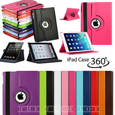 Apple iPad 2 3 4 Air Air 2 Mini 1 2 3 4 Leather Stand Smart 360° Case Cover
