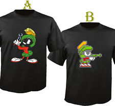 Marvin The Martian Icon Cotton Black T Shirt T-Shirt S - 5XL US SIZE