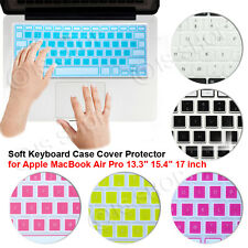 """Soft Keyboard Case Cover Protector for Apple MacBook Air Pro 13.3"""" 15.4"""" 17 inch"""