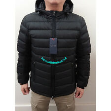 NWT ARMANI JEANS MENS HOODED DOWN JACKET IN TECHNICAL FABRIC BLACK SIZE M(EU50)