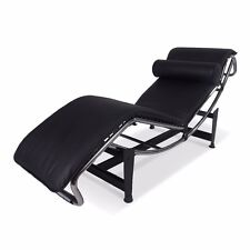 Le Corbusier Chaise Lounge Recliner Genuine Leather Poltrona Chair LC4 Love Seat