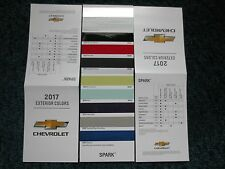2017 SPARK FACTORY COLOR CHIP SAMPLE CHART BROCHURE NEW AND COOL