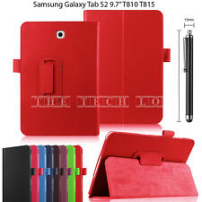 "Samsung Galaxy Tab Leather Stand Flip Holder Case Cover For S2 9.7"" T810 T815"