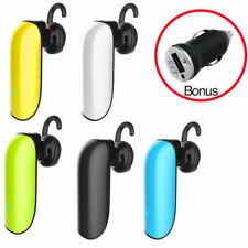 Bluetooth Mono Headset Hands Free Handsfree for Smartphone iPhone Android Galaxy