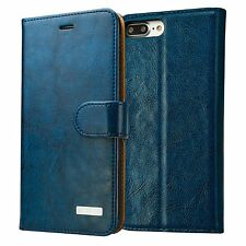 iPhone 7 Leather Wallet Case, Labato Genuine Leather Stand Folio Flip Magnetic C
