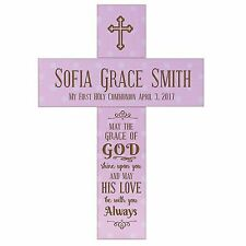 Baptism Cross Wooden Personalized Holy Communion Confirmation Christening Gift