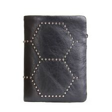 Men Wallet With Rivet Style Organizer Wallets Zip Coins Pocket Purse