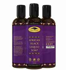 (8 oz) African Black Soap Liquid Body Wash with Coconut Oil and Shea Butter