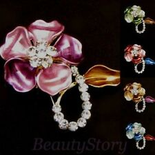 ADD'L Item FREE Shipping - Rhinestone Crystal Flower Wedding Bouquet Brooch Pin